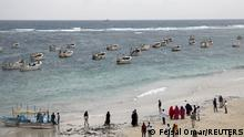 A general view of people on the Liido beach in Mogadishu, Somalia October 12, 2021. REUTERS/Feisal Omar