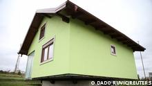 The mechanism of Vojin Kusic's rotating house is seen in Srbac, Bosnia and Herzegovina, October 9, 2021. REUTERS/Dado Ruvic