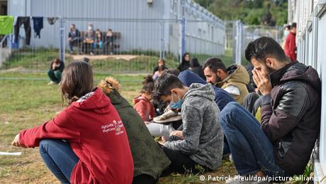 Refugiaţi în centrul de primire din Eisenhüttenstadt