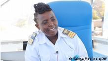 Mayasa Mzandi- female ferry captain in Mtwara Tanzania.