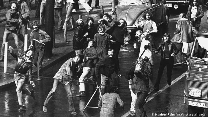 Häuserkampf in Frankfurt am Main (1973) | Daniel Cohn-Bendit und Joschka Fischer