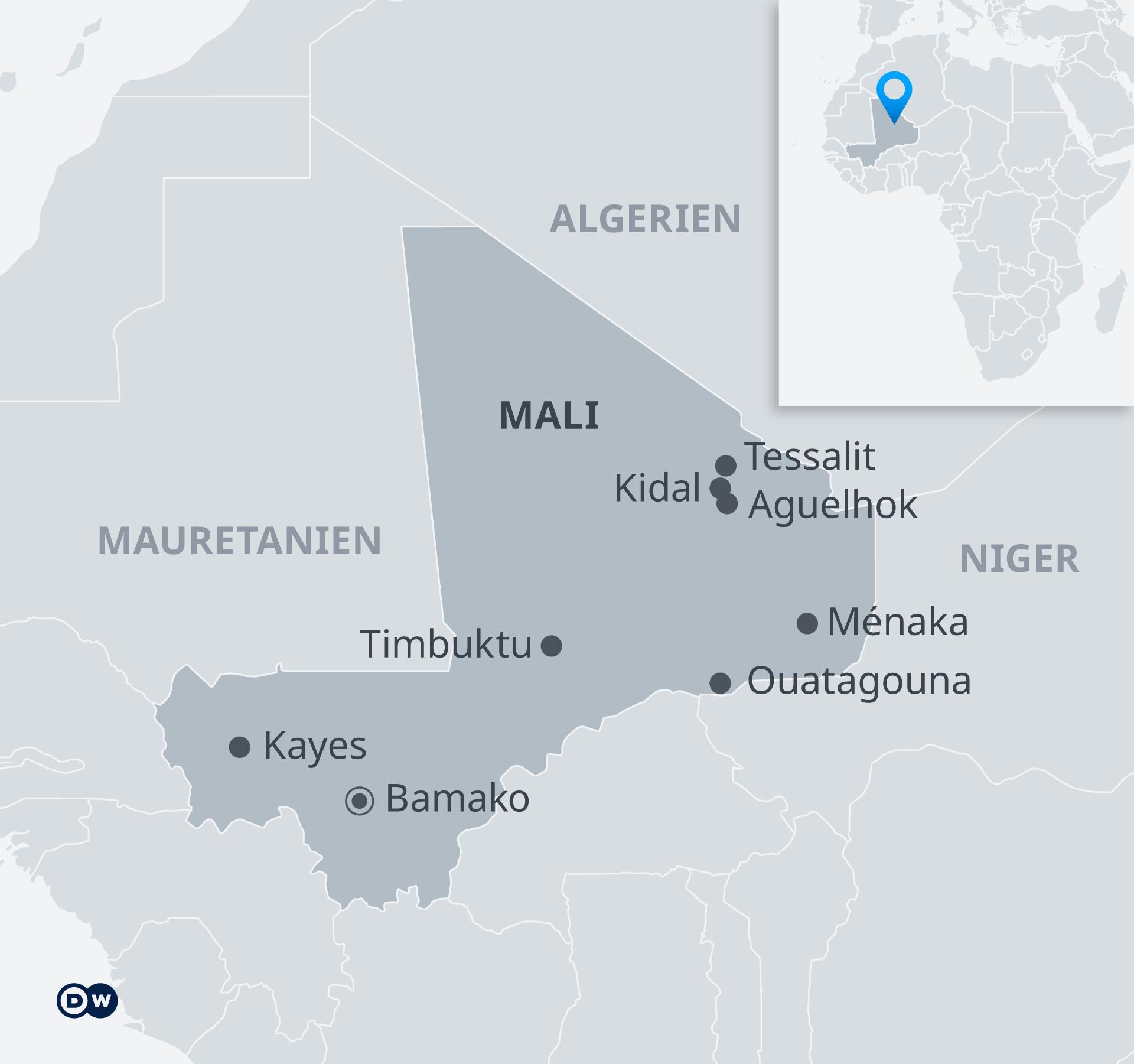 Karte Mali Minusma DE