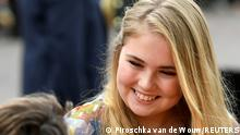 FILE PHOTO: Princess Catharina-Amalia of the Netherlands greets people during the King's Day in Amersfoort, Netherlands April 27, 2019. REUTERS/Piroschka van de Wouw/File Photo
