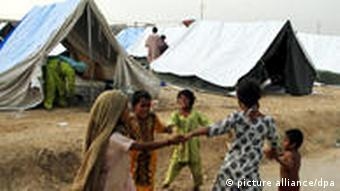 Many families in the Sindh province are still forced to live in relief camps
