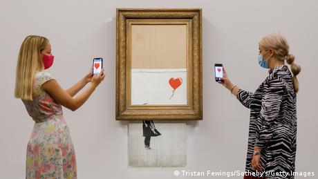 Sotheby's Versteigerung Banksy Love Is In The Bin