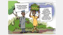 Fotograf/Autor: Abdulkareem Baba Aminu, DW Haussa Cartoonist Wann wurde das Bild gemacht? 14.10.2021