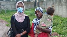 *** Bitte nur in Zusammenhang mit der Berichterstattung verwenden *** 14.10.21 Aufdecken von Polizeigewalt. Soniya Umer (links) hat ein Video gedreht was in Äthiopien viral ging. Drauf ist es zu sehen wie ein Mädchen( Semira, rechts im Bild) von zwei Polizisten brutal geschlagen wird. Dies sorgte für Aufmerksamkeit und seitdem hat sich das Leben von Semira sehr verbessert.