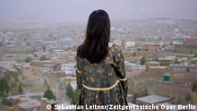 14.10.2021, Kabul, Poster vom Streaming-Festival Female Voice of Afghanistan