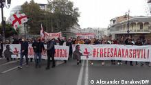 Demonstration in Tiflis für die Freilassung Michail Saakaschwili, Oktober 2021