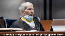 New York real estate scion Robert Durst, 78, sits in the courtroom as he is sentenced to life in prison without chance of parole, Thursday, Oct. 14, 2021 at the Inglewood Courthouse in Inglewood, Calif. Durst was convicted of the the first-degree murder of his best friend, Susan Berman. (Myung J. Chung/Los Angeles Times via AP, Pool)