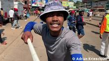 Straßenproteste in Eswatini (Herkunft) Adrian Kriesch/DW Oktober 2021