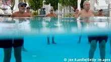 POMPANO BEACH, FLORIDA - OCTOBER 15: Residents of the John Knox Village Continuing Care Retirement Community participate in a water aerobics class on October 15, 2021 in Pompano Beach, Florida. The Social Security Administration announced benefits will increase 5.9% in 2022. The cost-of-living adjustment is the largest since 1982, with the benefits compensating recipients for the current high inflation rate. (Photo by Joe Raedle/Getty Images)