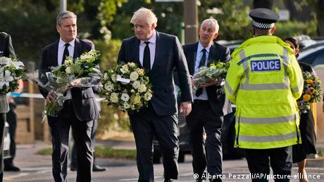UK Leigh-on-Sea   Premierminister Johnson   Trauer im Mordfall David Amess