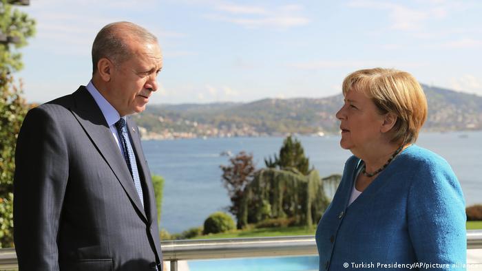 Türkei Istanbul Treffen Präsident Erdogan und Kanzlerin Merkel
