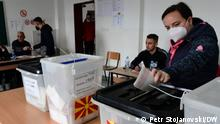 Skopje, 17.10.2021 Nord-Mazedonien | Kommunalwahlen