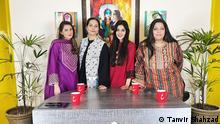 Picture of Pakistani wome doing a Youtube show called Aurat Card Location: Lahore