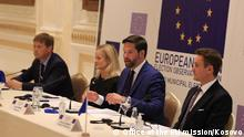 19.10.2021, EU observers on local elections in Kosovo at press conference.