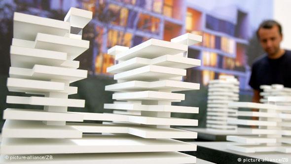 Модель дома на выставке в берлинском Центре архитектуры