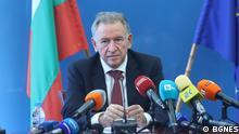 der bulgarische Gesundheitsminister in der Interimsregierung Stoicho Katzarov, aufgenommen heute (19.10.21)