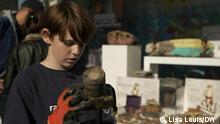 Raphael, elfjähriger Müllfischer aus Paris
