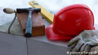 Construction helmet and tools