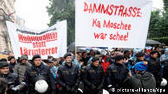 تطاهراتی در وین علیه ساخت مسجد در ماه مه سال ۲۰۰۹
