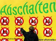 Protesto em Leipzig por desligamento das usinas alemãs