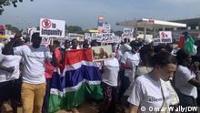 Gambian youth demonstrate Datum: 10/2021