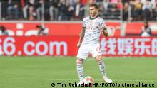 Lucas Hernandez playing for Bayern Munich