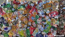 Müllentsorgung auf der Insel Krk in Kroatien, etwa 60% des Abfalls wird wiederverwertet.