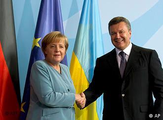 Ангела Меркель и Виктор Янукович