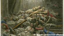Los ejércitos musulmanes bajo el mando de Saladino capturaron o mataron a la gran mayoría de las fuerzas cruzadas durante la batalla de Hattin en 1187, eliminando su capacidad de hacer la guerra.