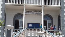 Titel: Gericht der Provinz Zambézia Bildbeschreibung: Gericht der Provinz Zambézia, in Quelimane, Mosambik. Fotograf: DW, Quelimane, Mosambik, 20.10.2021 Schlagworte: Quelimane, Mosambik, Justiz, Max Love -- via Jorge de Noronha