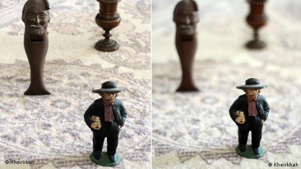 عکس سمت راست با دیافراگم باز ۱/۸ و عکس سمت چپ با دیافراگم بسته ۱۶ عکاسی شده است.