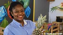 Aurélie Messan hat ein auf Früchte spezialisiertes Restaurant in Lomé, Togo aufgemacht.