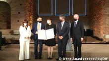 Das Ehepaar Özlem Türeci und Ugur Sahin haben am 13.10 in Thessaloniki den Theophano Preis von der griechischen Präsidentin Katerina Sakellaropoulou bekommen.