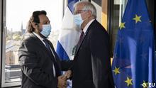 Felix Ulloa, Vicepresident from El Salvador, und Josep Borrell, HRVP from the EU, Strasbourg, 20.10.201.
