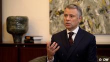 Юрій Вітренко під час інтерв'ю DW