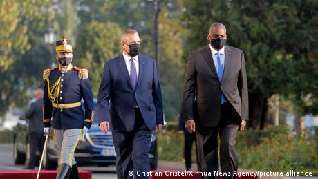 Nicolae Ciucă alături de Ministrul Apărării al SUA, Lloyd Austin, la București (20 octombrie)