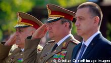 (180423) -- BUCHAREST, April 23, 2018 -- General Nicolae Ciuca (C), Romania s Chief of General Staff, attends a ceremony marking Romanian Land Forces Day at Fallen Heroes Memorial, in Bucharest, Romania s capital, April 23, 2018. ) (hy) ROMANIA-BUCHAREST-LAND FORCES DAY CristianxCristel PUBLICATIONxNOTxINxCHN