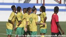 Football - 2022 Womens Africa Cup of Nations Qualifier - Mozambique v South Africa - Maputo. South Africa players celebrate goal during the 2022 Womens Africa Cup of Nations qualifier between Mozambique and South Africa in Maputo, Mozambique on 20 October 2021 ©Sports Inc URN:63185799