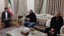 iranische LKW Fahrer die von Aserbaidschan freigelassen wurden titel: iranische LKW Fahrer quelle: isna