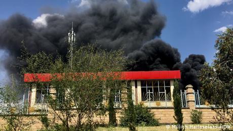 Äthiopien   Luftangriff auf der äthiopische Armee auf Mekelle