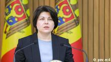 Natalia Gavrilita, Premierministerin der Republik Moldau. Als Copyright bitte: gov.md Zugeliefert von Vitalie Calugareanu, DW-Korrespondent in Chisinau.