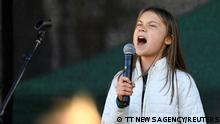 Swedish climate activist Greta Thunberg takes part in a Global Climate Strike of the movement Fridays for Future, in central Stockholm, Sweden, October 22, 2021. Etrik Simander/TT News Agency via REUTERS THIS IMAGE HAS BEEN SUPPLIED BY A THIRD PARTY. SWEDEN OUT. NO COMMERCIAL OR EDITORIAL SALES IN SWEDEN