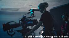 This photo provided by Jack Caswell shows director of photography Halyna Hutchins on the set of Archenemy on Dec. 17, 2019, in Los Angeles. Hutchins was fatally shot by Alec Baldwin Thursday on the New Mexico set of the western film Rust. Authorities continue to investigate the shooting but there are no allegations of wrongdoing by Baldwin. (Jack Caswell via AP)