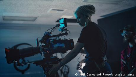 Director of photography Halyna Hutchins on the set of Archenemy in 2019