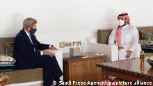 Saudi Arabien Riad   US-Sondergesandter John Kerry und Mohammed bin Salman
