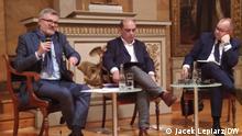 Jahrestagung der Deutsch-Polnischen Gesellschaft Bundesverband. 23. Okrober Goettingen. Foto1: von links SPD-Politiker Dietmar Nietan, Chefredakteur der Zeitschrift