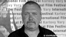 Russain director Alexander Rogozhkin poses 06 July 2006 in Karlovy Vary (Carlsbad) during the 41st Karlovy Vary International Film Festival (KVIFF), before the screening of his movie Peregon (Transit). Transit is featuring the WWII winter of 1942-1943 at a military airstrip inn inhospitable Chukotka. The 41st KVIFF presents over 230 feature, including 15 world premieres and 39 European or international premieres, from 30 June to 08 July. AFP PHOTO/STRINGER/KVIFF (Photo by STRINGER / AFP)